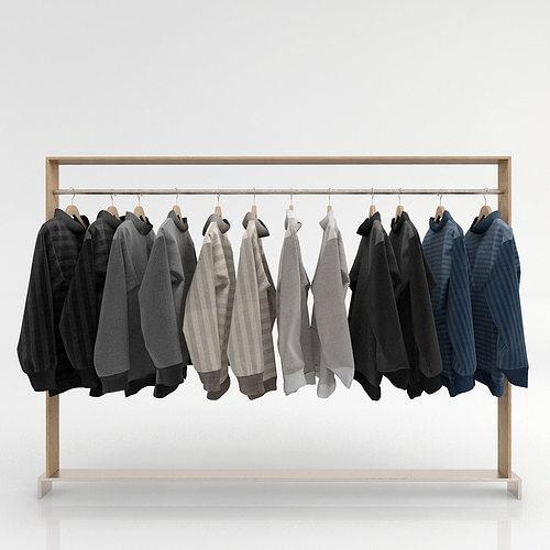 clothing rack 2 3d model max obj mtl 1