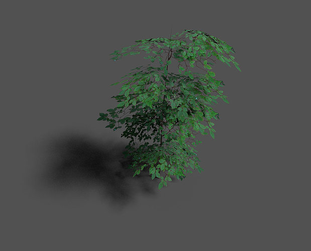 low poly forest tree 1