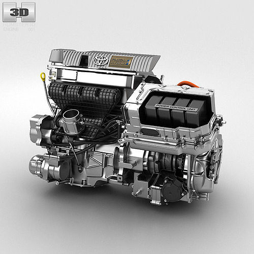toyota hybrid engine 3d model max obj 3ds fbx c4d lwo lw lws 1