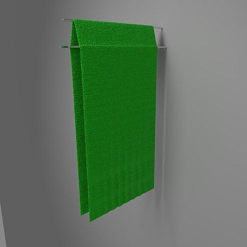 towel hung 2 3d model blend 1