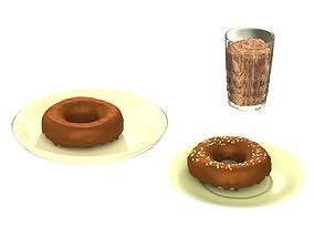 Donuts and Shake 3D model