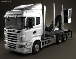 3D model Scania R 730 Timber Truck 2010