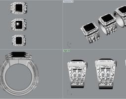3 sizes bandle Ring for man 3D print model