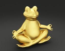 Relaxing Frog 3D Model