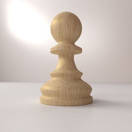 pawn pieces 3d model 3ds fbx blend dae 1