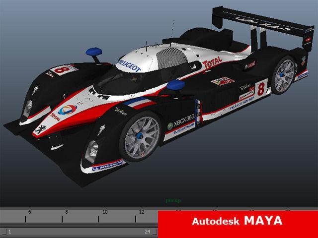 ... Peugeot Sport 908 2007 3d Model Max C4d Ma Mb 6
