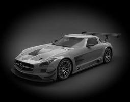 mercedes-benz sls amg gt3 2012 3d model