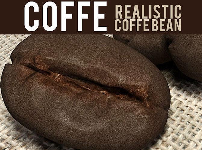 coffee bean 3d model obj mtl ma mb tga 1