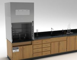 3d model laboratory table 02