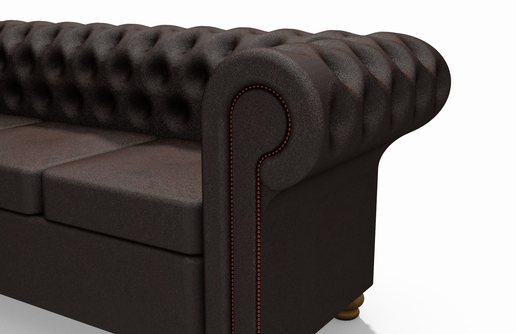 ... Chesterfield Sofa 3d Model Max Obj 3ds Stl Stp 5 ...