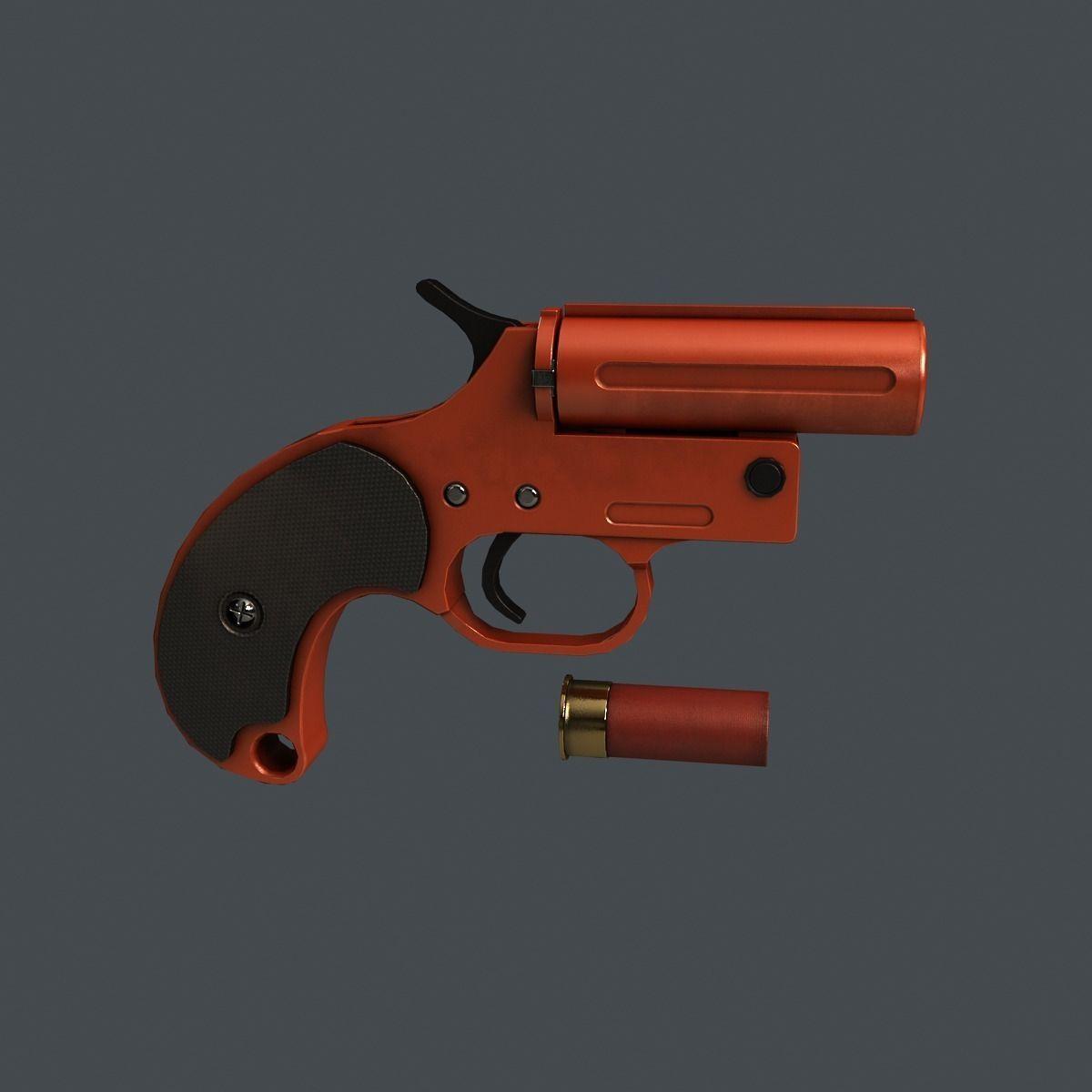 3d Gun Image 3d Home Architect: 3D Model Flare Gun VR / AR / Low-poly MAX OBJ FBX TGA