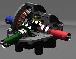 3d model differential gear box