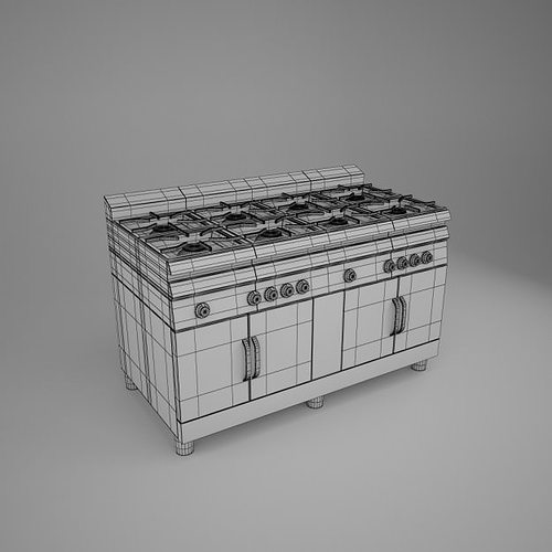 Kitchen 3d Model 3d commercial kitchen pack   cgtrader