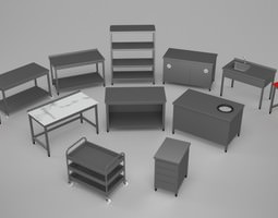 3D Commercial Kitchen Pack