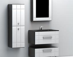 Black Bath Sink 3D