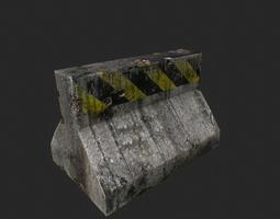 3d model road block VR / AR ready