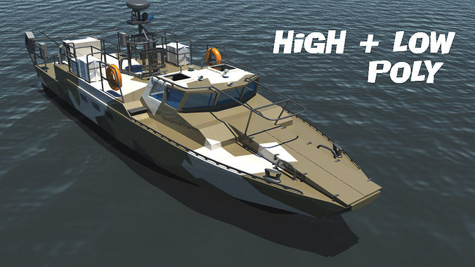 combat boat bk-16 3d model max obj mtl ma mb tga 1