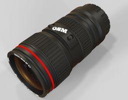 camera lens 3D model