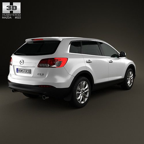 mazda cx 9 2013 3d model max obj 3ds fbx c4d lwo lw lws. Black Bedroom Furniture Sets. Home Design Ideas
