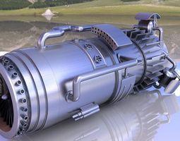 turbine engine 3D model