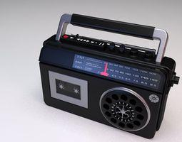 portable radio 3D model