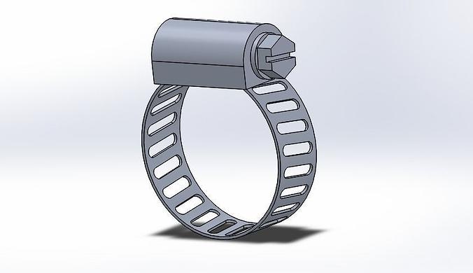 hose cl& 3d model sldprt sldasm slddrw 1 ...  sc 1 st  CGTrader & 3D model Hose Clamp | CGTrader