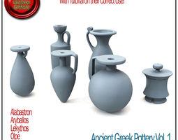 ancient greek pottery vol 1 stl printable 3d model obj stl