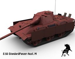 3d model e-50 standardpanzer ausf m