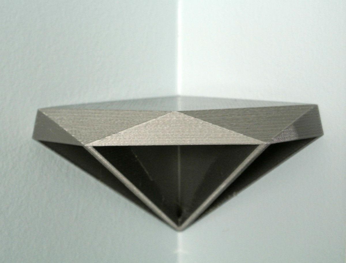 Perfect Diamond Corner Shelf D Model Stl With Corner Shelf. Pictures