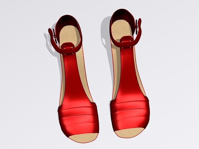 high heel shoes 3d model max cgtrader