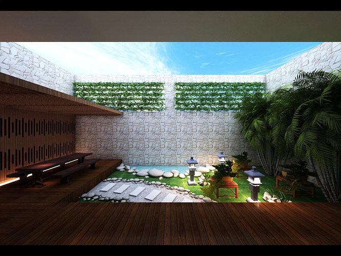 Zen Garden Design 3D Model