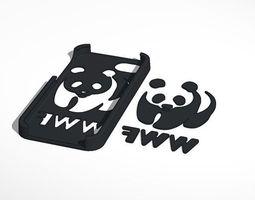 iphone 5 wwf logo case 3d print model