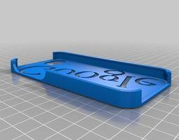 google iphone 5 case 3d print model