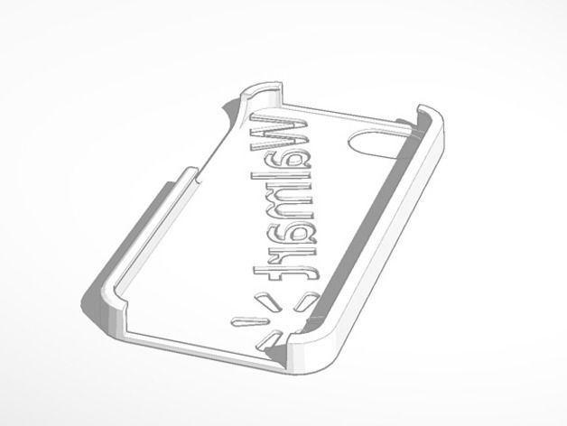 iphone 5 walmart logo case 3d model 3d printable stl