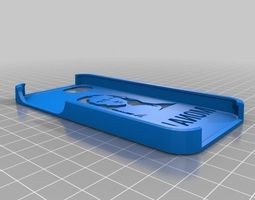 3d printable model mona lisa stencil case for iphone 5