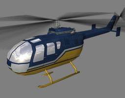 Bo105 V3 Helicopter 3D model