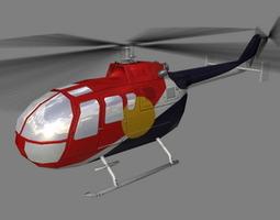 Bo105 V4 Helicoopter 3D Model