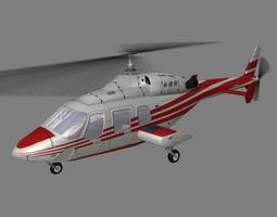 Bell 222 V4 Helicoopter 3D Model