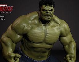 the hulk - avengers age of ultron -rigged- 3d model obj ma mb