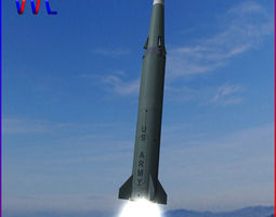 3d model pershing ii ballitic missile