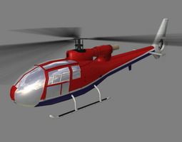 gazelle v4 helicopter 3d model max 3ds lwo lw lws ma mb
