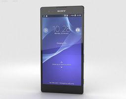 3D Sony Xperia T2 Ultra Black
