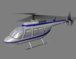 3D model Jet Ranger V2 Helicopter