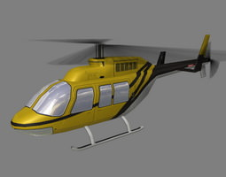 Jet Ranger V4 Helicopter 3D model