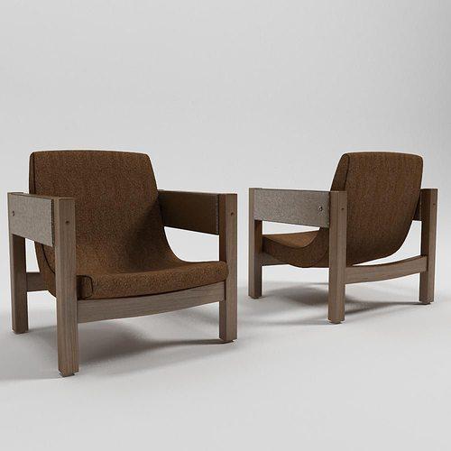 jimmi armchair - sergio rodrigues 3d model max obj 3ds fbx 1