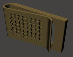 3d printable model dragon curve money clip