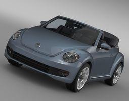 3D VW Beetle Cabriolet Denim Concept 2015