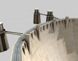 3D model Hoover Dam low-poly