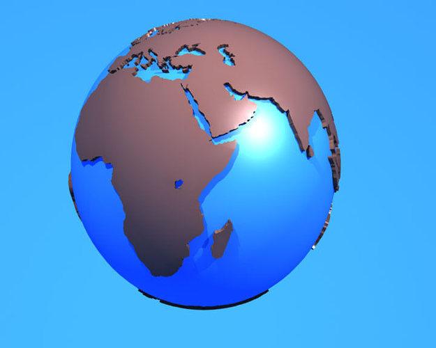 3D model Earth 3D Model Globe illustration VR / AR / low-poly MAX ...