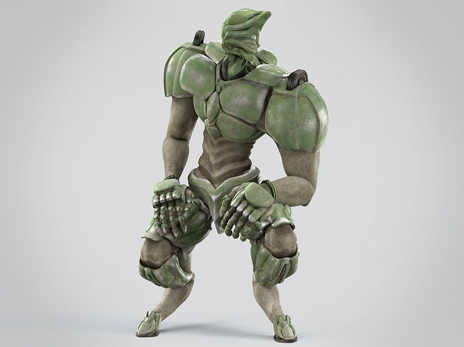 battle extraterrestrial cyborg animated 3d model low-poly ma mb 1